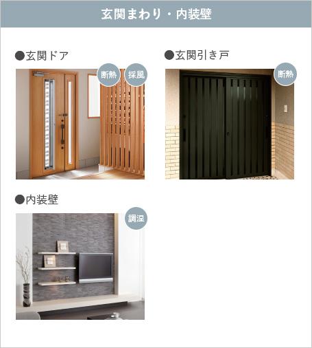 最新設備「玄関まわり」「内装壁」